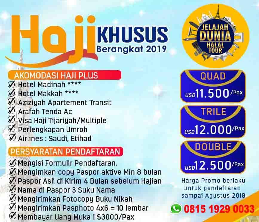 promo haji khusus 2019