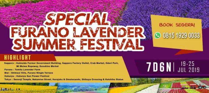 Memanjakan Mata di Kebun Lavender Kota Furano Jepang