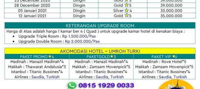 Intip Yuk, Harga Paket Umroh Plus Turki 2020