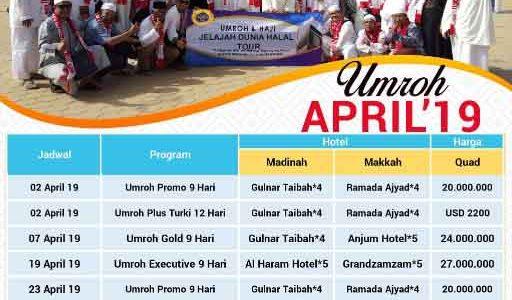 Paket Umroh April 2019