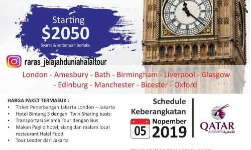 Wisata Halal Inggris 2019
