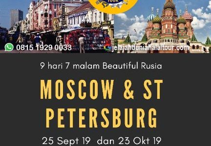 Wisata Halal Moscow – St Petersburg 2019
