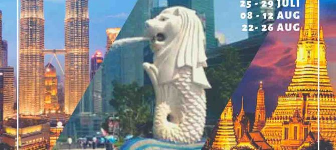 Wisata Halal 3 Negara 2019 (Singapura,Malaysia,Thailand)